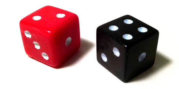 stock image of two dice
